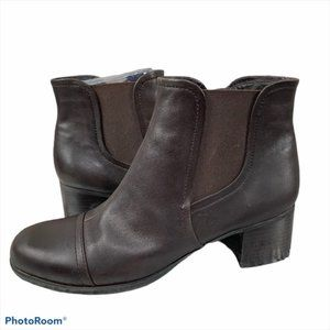 Naturalizer Dallas Chelsea Brown Leather Boots